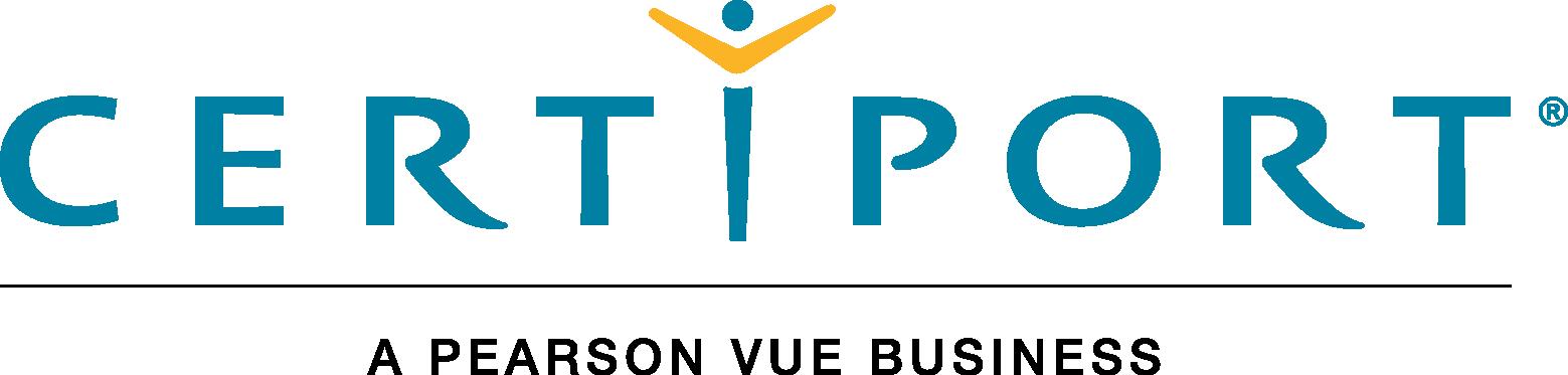 Certiport, a Pearson VUE business logo