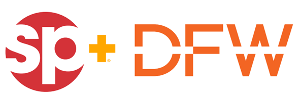 Dallas Ft. Worth International Airport ( DFW) & SP Plus Corporation logo